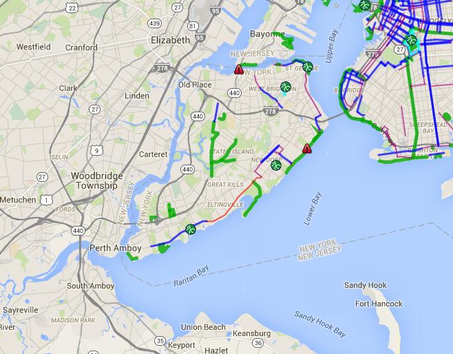 staten island bike map