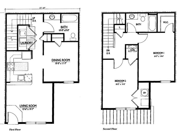 2 Floor Home Plan For Narrow Land
