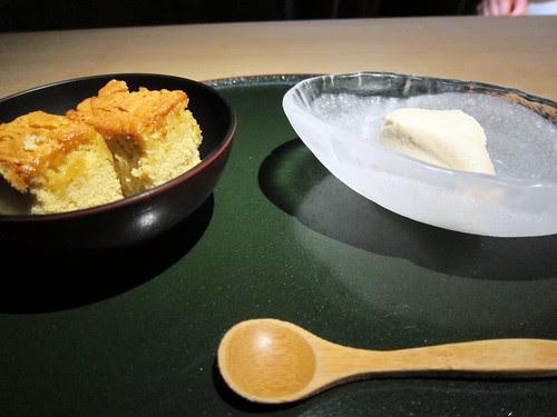 "kasutera and ""mystery"" ice cream"