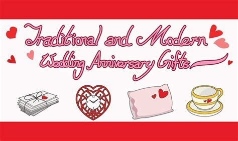 Traditional and Modern Wedding Anniversary Gifts #