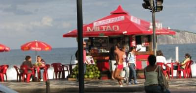 Beach bar at Ipanema Beach, Rio de Janeiro