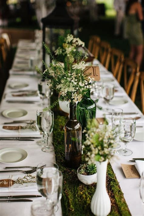 Picture Of dreamy woodland wedding table decor ideas 20