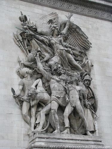 Sculpture of the Arc de Triomphe