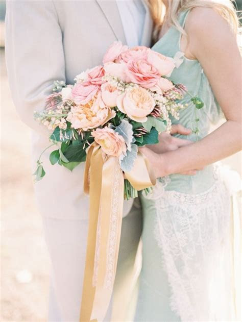 8 Grey and peach wedding bouquets,peach wedding bridal bouquet