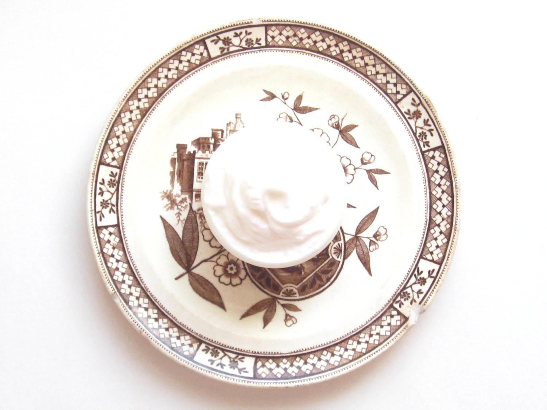 Patchouli Lavender Whipped Body Butter // Shea Butter Coconut Oil Rose Hip Jojoba // Sweet Orange Brown Minimalist Rustic Stripes