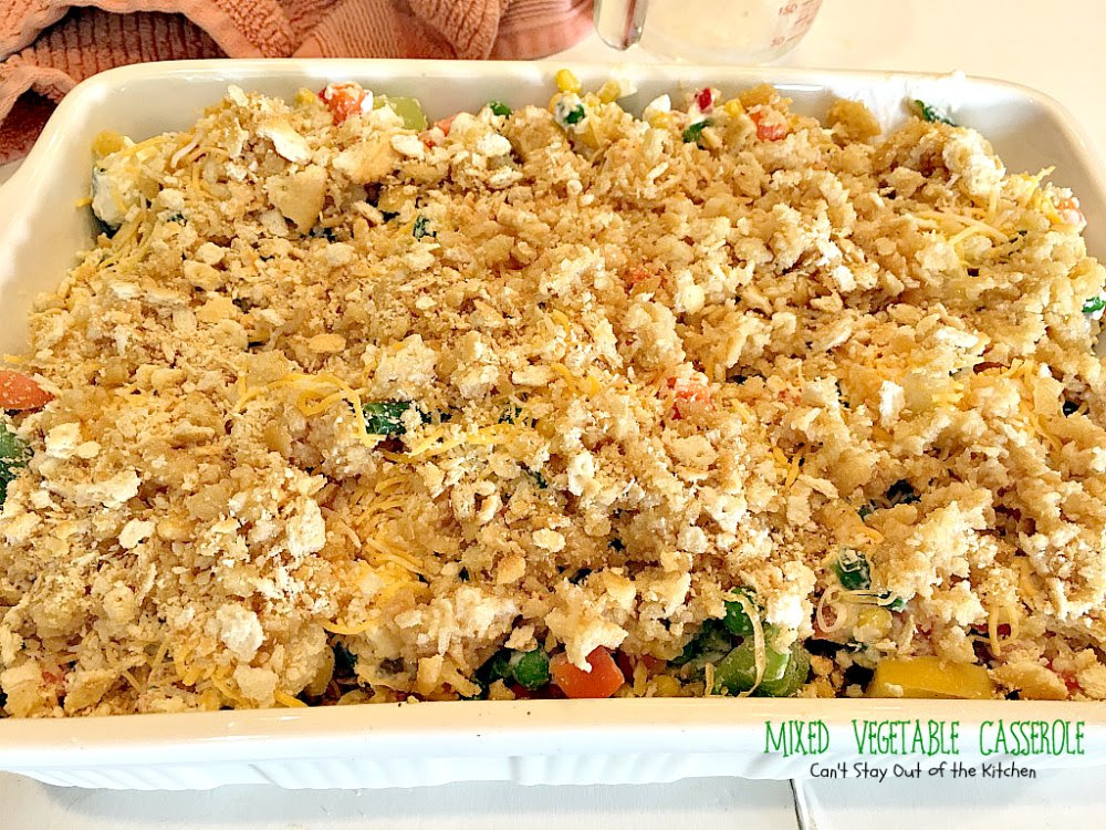 Mixed Vegetable Casserole - Can't Stay Out of the Kitchen