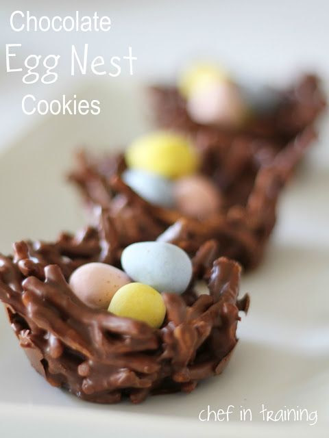 No-Bake Chocolate Egg Nest Cookies | Chef in Training