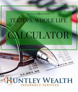 Term vs. Whole Life Insurance Comparison Calculator