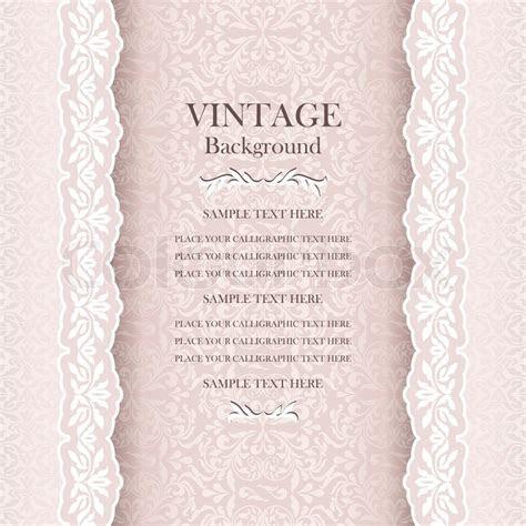 Vintage wedding background, elegance     Stock Vector