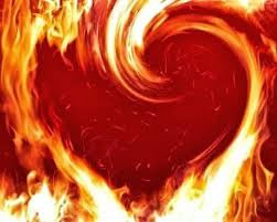 Jesus' fiery heart of mercy