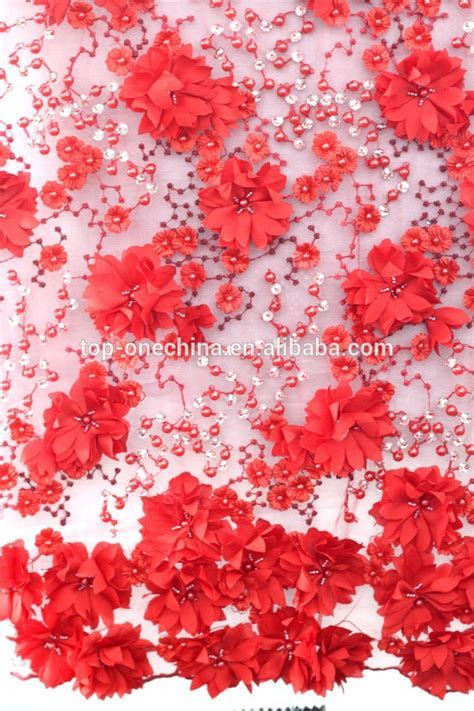 Top one embroidery fabrics sequin lace beaded fabric, View