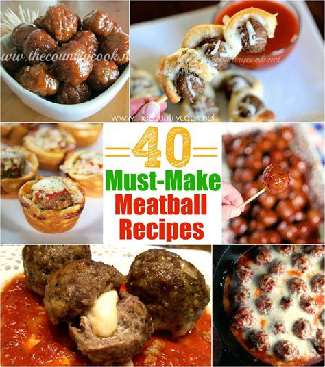 meatball recipes  country cook