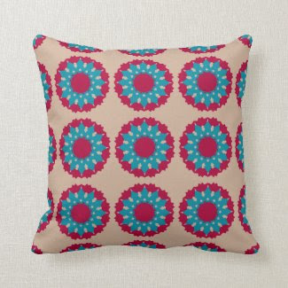Pillow with Large Flower Design