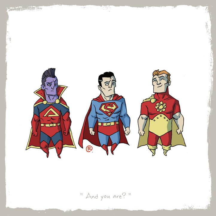 Superman, Gladiador e Hiperión