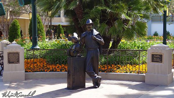 Disneyland Resort, Disney California Adventure, Buena Vista Street, Walt, Mickey, Storytellers, Statue