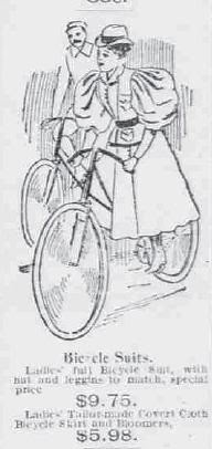 """""""Bicycle Suit"""" (for woman) 1896"""