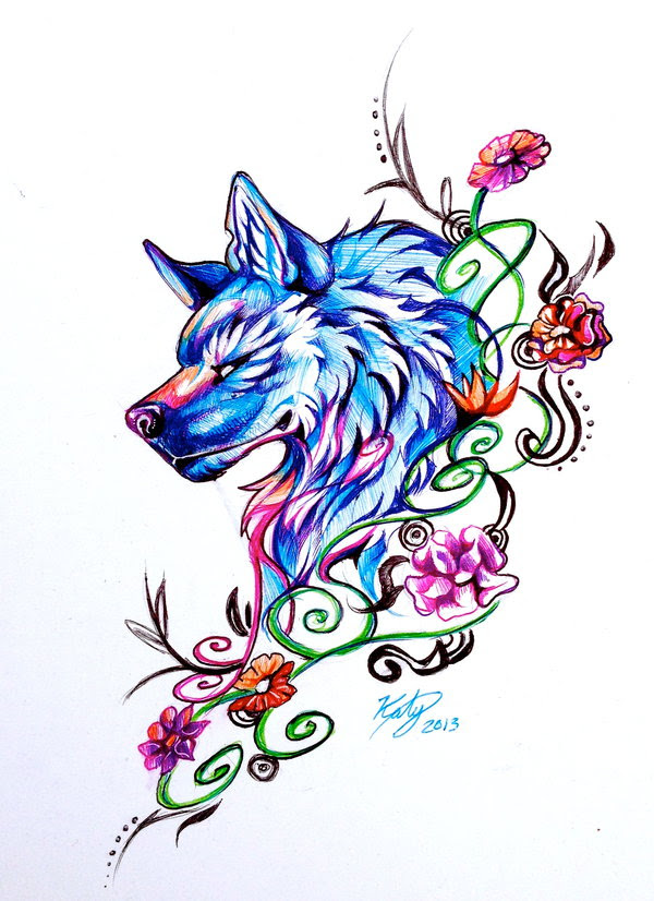 Free Running Wolf Tattoo Download Free Clip Art Free Clip Art On