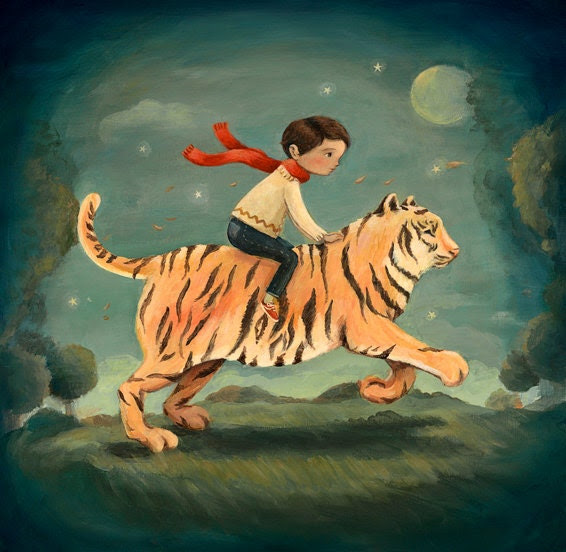 Dream Animals Tiger Boy Print