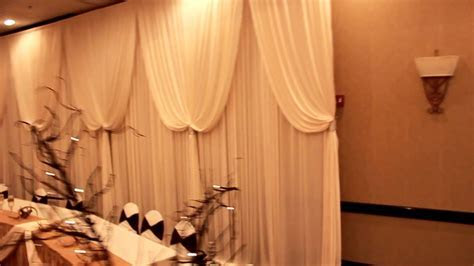 Beautiful Head Table backdrop for Wedding Reception