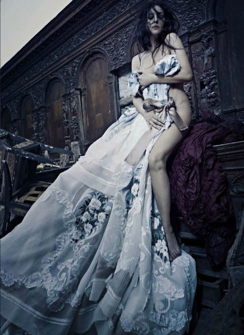 sashalusst:  journaldelamode:  Monica Bellucci, Bette Franke & others in Dolce & Gabbana Haute Couture by Paolo Roversi for Vogue Italia September 2012  this issue was pretty damn great and featured lots of couture omg