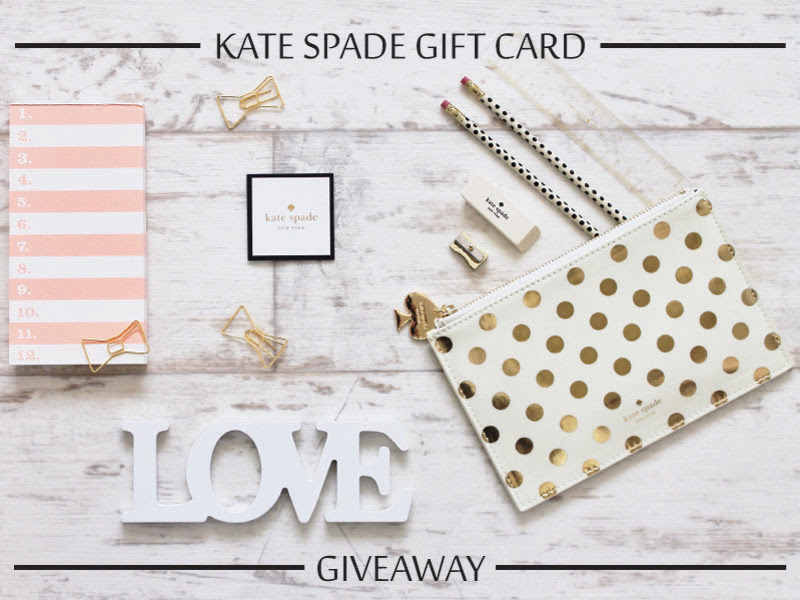 $125 Kate Spade gift card giveaway