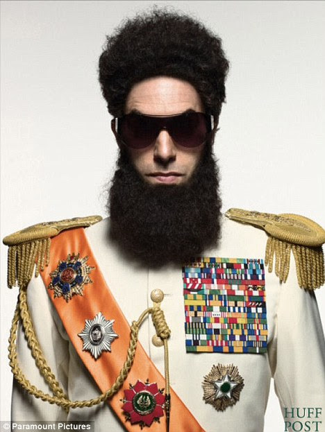 Disguise: This is the first picture of Sacha Baron Cohen in his Dictator costume