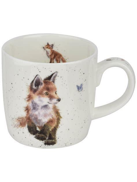 Royal Worcester Wrendale Fox Mug, Multi, 310ml at John