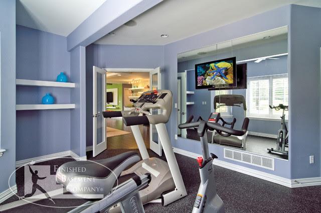 Basement Gym Workout Room - contemporary - home gym - denver - by ...