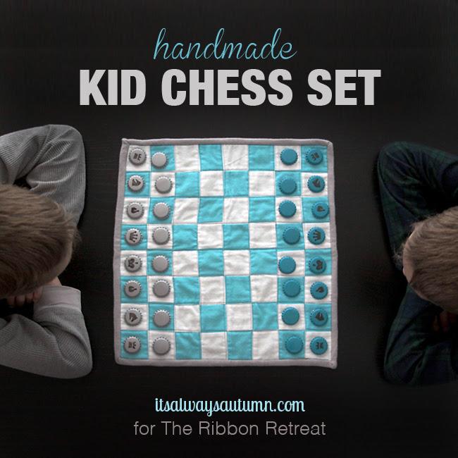 crianças jogo de xadrez como costurar presente