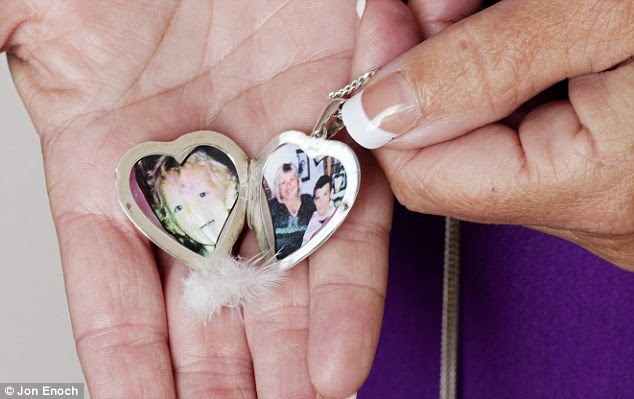 Heartbreak: Melanie keeps the memories of her beloved son close to her heart