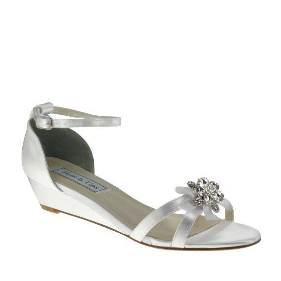 2 Inch White Wedge Sandals