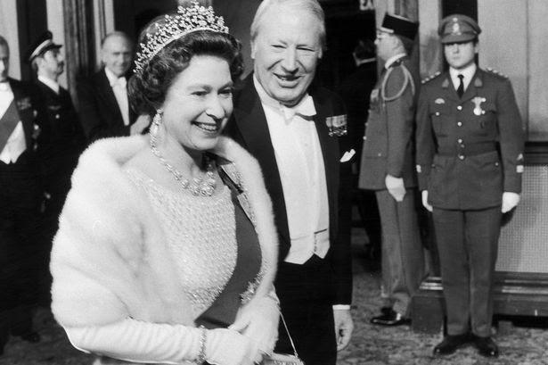 Resultado de imagen para sir edward heath queen elizabeth