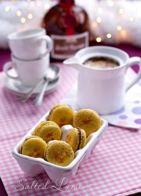 Orange-Chocolate Ganache Macarons