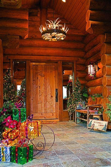 Festive Log Homes Get into the Holiday Spirit   Christmas