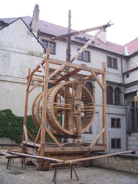 Máquina Contraption usada para fabricar vidro