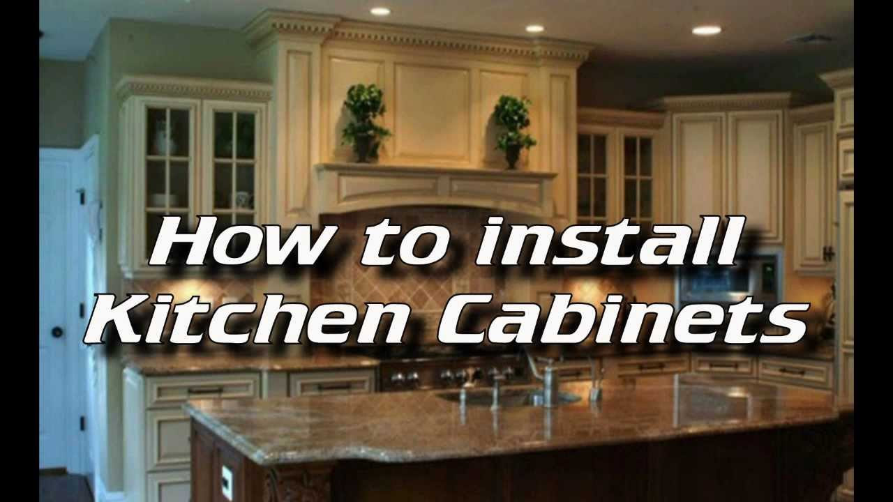 How To Install Kitchen Cabinets - Installing Kitchen ...