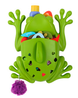 frog bath toy organizer