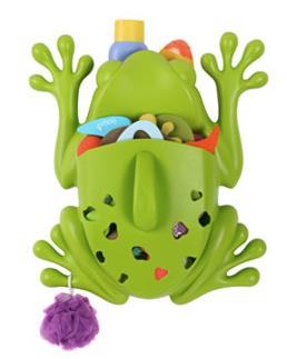 frog bath toy organizer