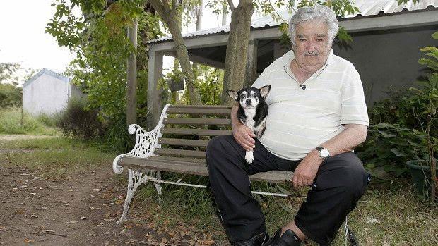 """Mujica diz que sua cadela de estimação, Manuela, foi """"integrante mais fiel"""" do governo  (Foto: BBC)"""
