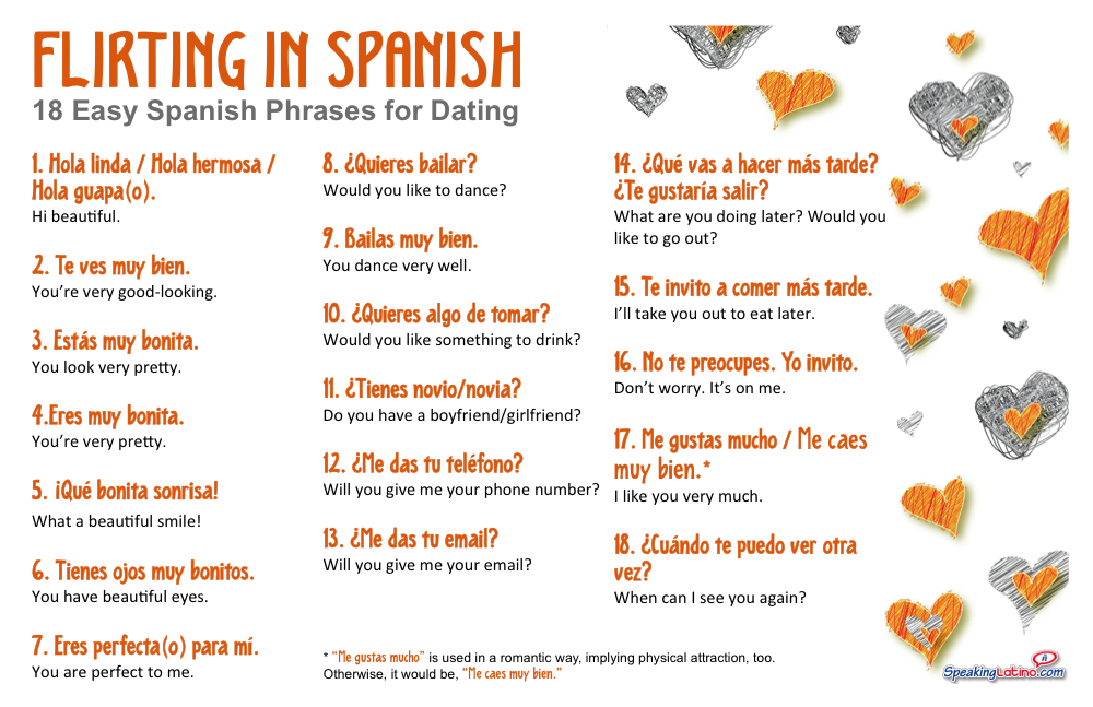 Flirting In Spanish 18 Easy Spanish Phrases For Dating