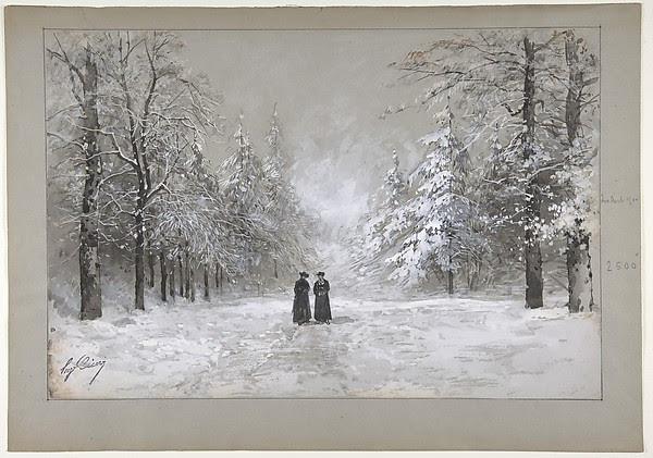 Winter Scene with Two Men