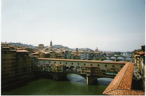 the view from Uffizi, Arno, Florence, Ponte Vecchio by Anna Amnell