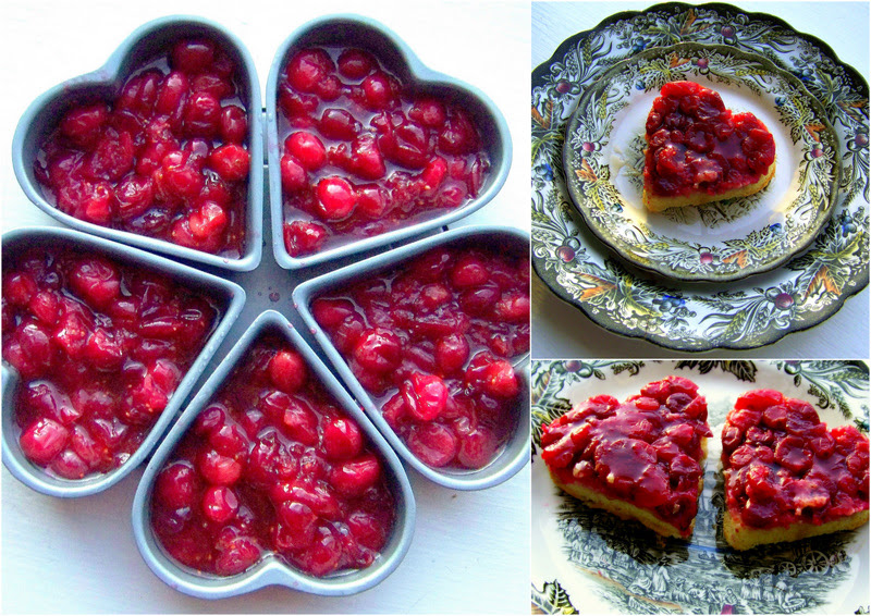 cranberry upside down cakes