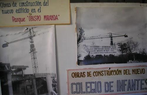 Inicio de las obras del Colegio de Infantes en 1978