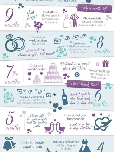 9 Months Before Wedding Planning Checklist   Visual.ly