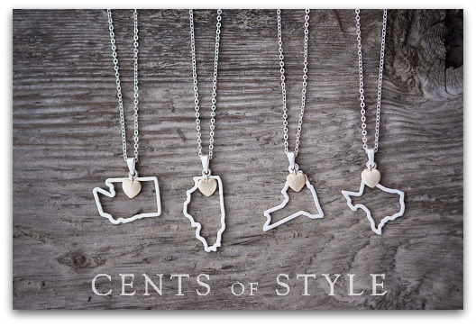 Fashion Friday- 12/6/13- Custom State Necklaces- $11.95 & FREE SHIPPING with Code HOME