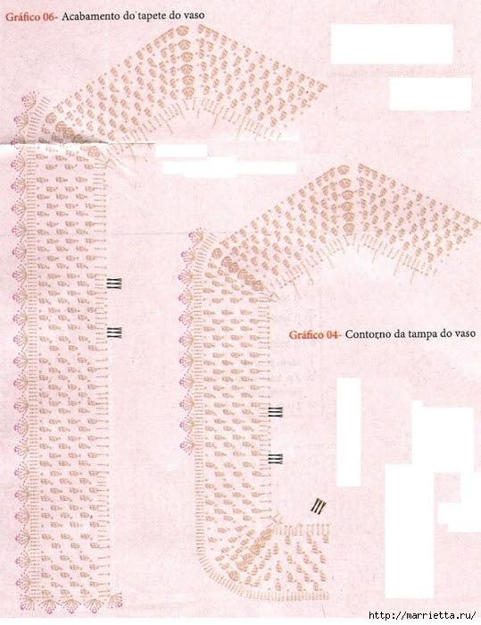mats and kits for bathroom hook of melange yarn (6) (539x700, 283Kb)