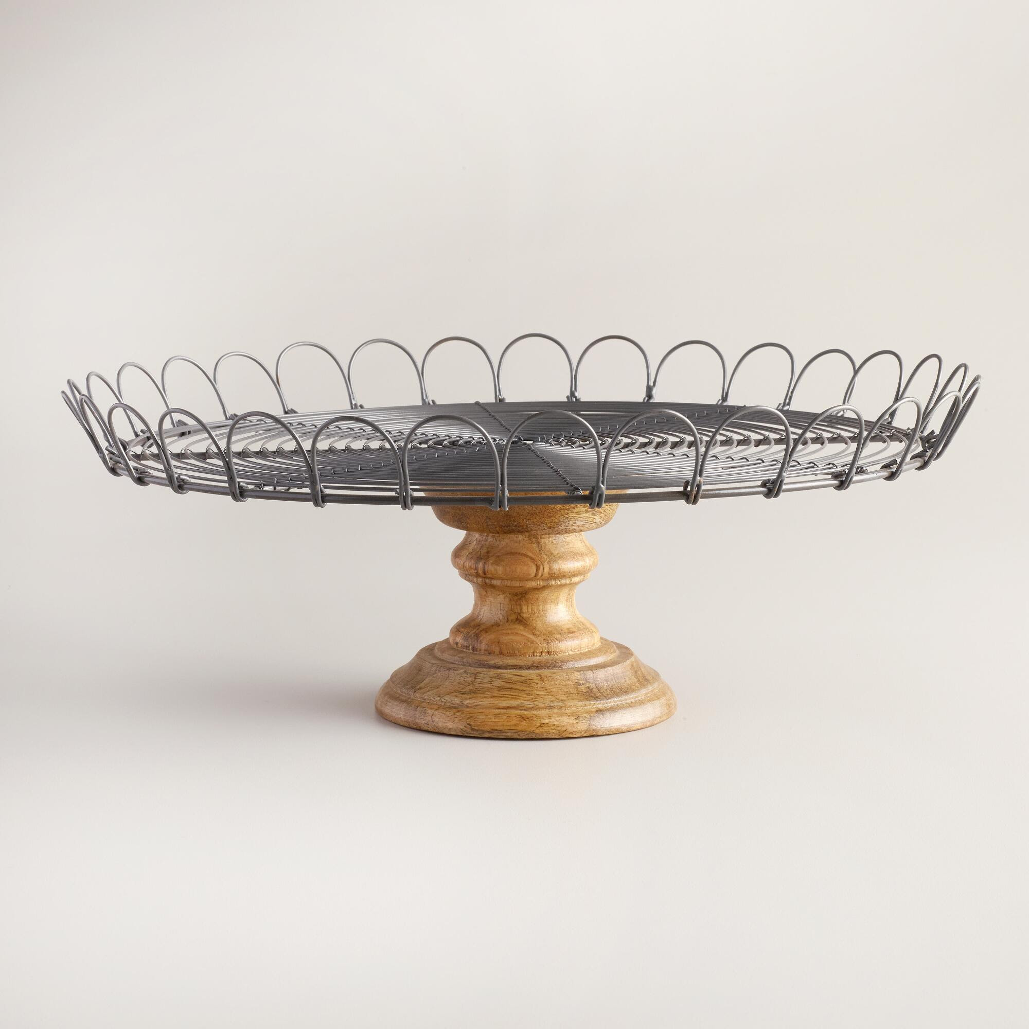 Pedestal Cake Stand With Dome Tiered