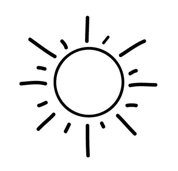 Kostenlose Malvorlage Geburtstag: Sonne zum Ausmalen zum ...
