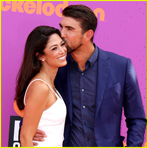 Michael Phelps & Wife Nicole Are the Cutest Couple at Kids' Choice Sports Awards!